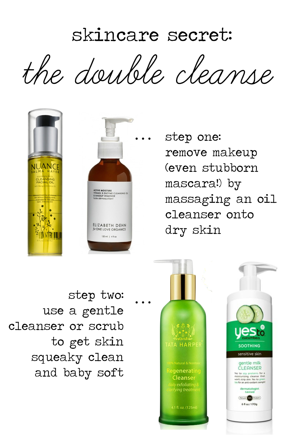Skincare Secret // The Double Cleanse.