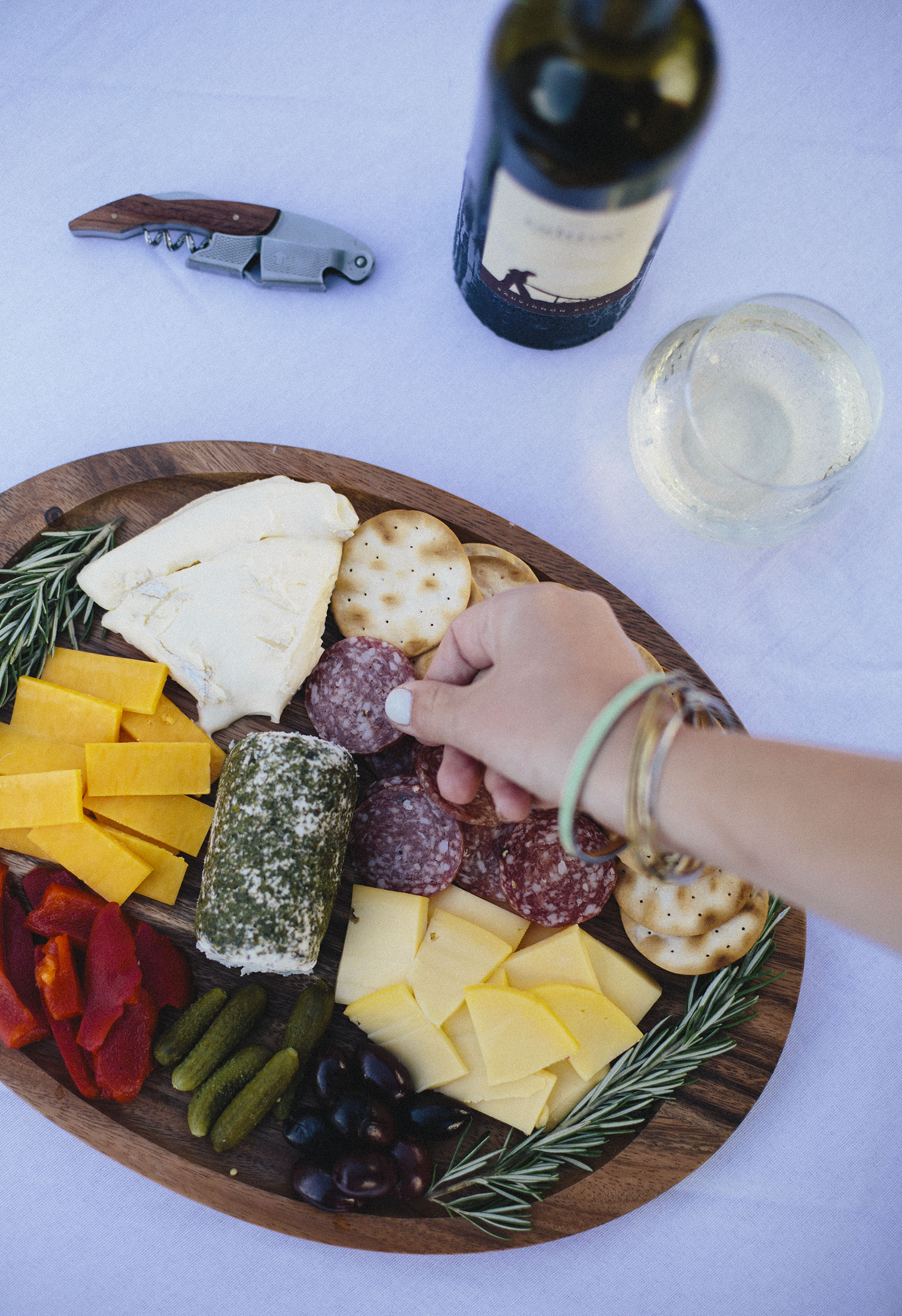 A Simple Wine & Cheese Night.