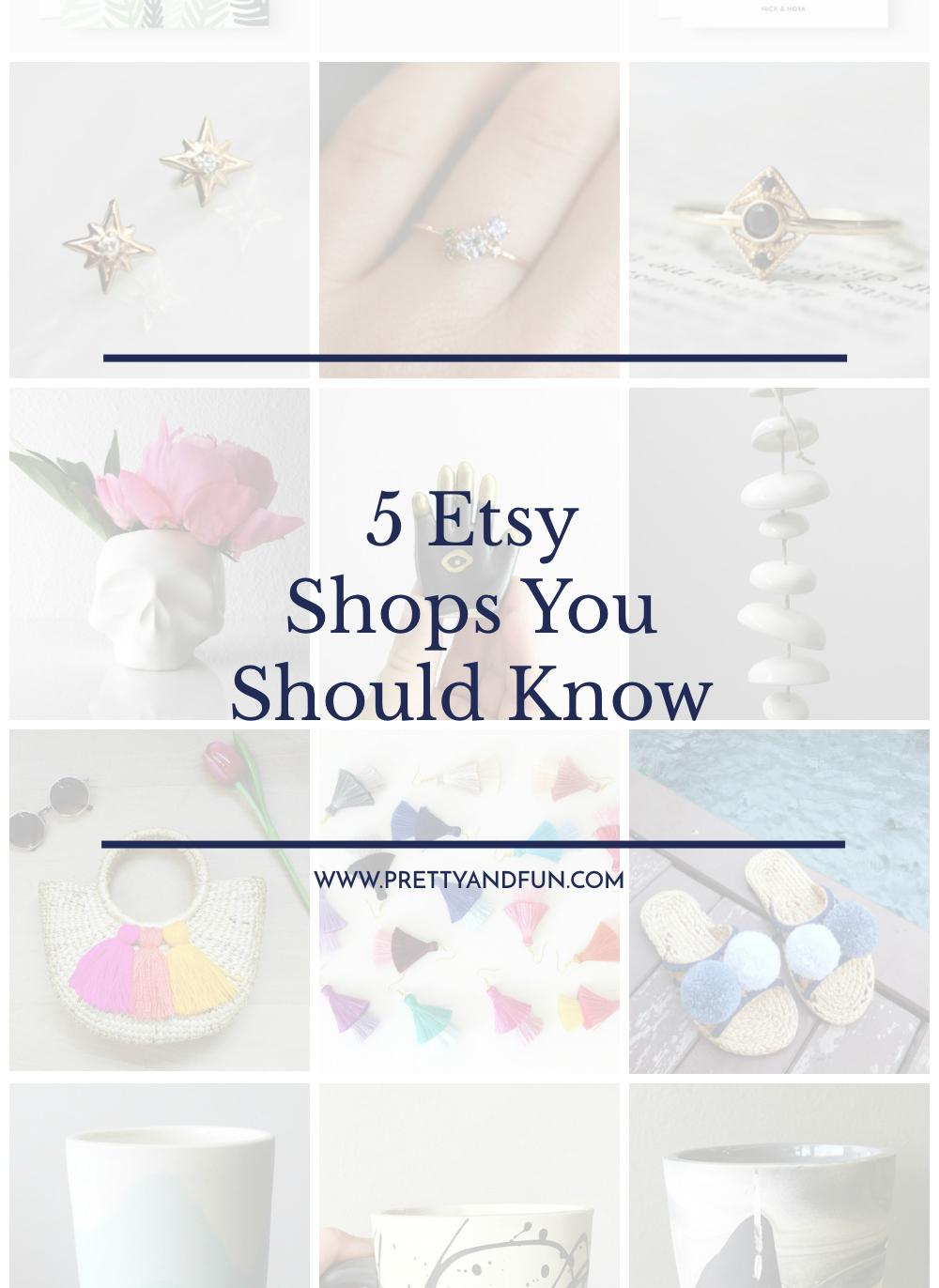 Best Etsy Shops | 5 Shops You Should Know | Pretty & Fun
